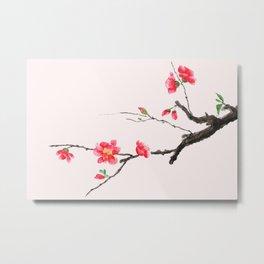 red Japan begonia Metal Print