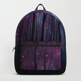 Fantasy Forest Path Dark Amethyst Blue Backpack