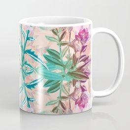 Vibrant botanical mirrored pattern Coffee Mug