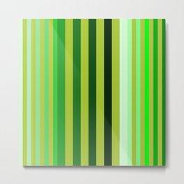 green stripe pattern Metal Print