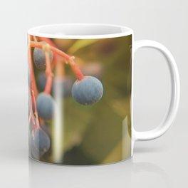 Red Stemmed Purple Berries Coffee Mug