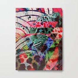 Leopard triangles Metal Print