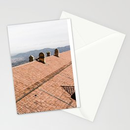 rooftop in Italy | Europe travel photography print Stationery Cards