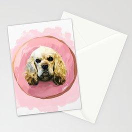 Cocker Strawberry Donut Stationery Cards