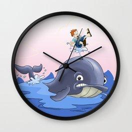 Jonah and the big fish Wall Clock
