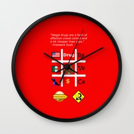 Crowd contol Wall Clock