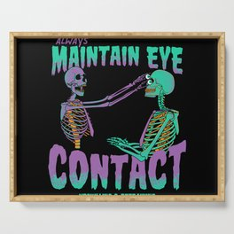 Maintain Eye Contact Serving Tray