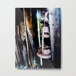 Lantern in the Smokehouse Metal Print