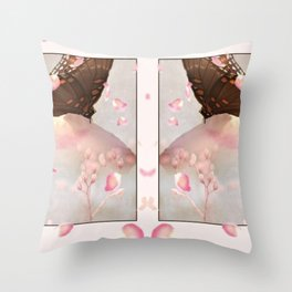 Flowing Petals For The Butterfly Throw Pillow