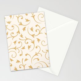 Baroque Design – Gold on Cream Stationery Cards