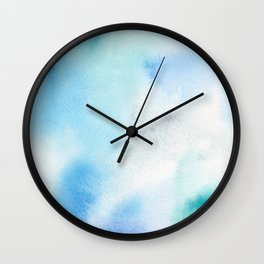 Abstract Watercolor. Shining Ice Wall Clock