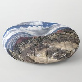 Pikes Peak in Colorado Springs Floor Pillow