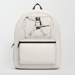 Guitar Man and Da Vinci Backpack