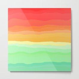 Rainbow - Cherry Red, Orange, Light Green Metal Print