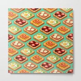 Toast Pattern Metal Print