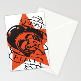 Heart so black Stationery Cards