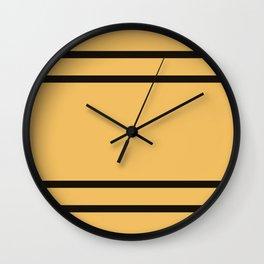 Hufflepuff Stripes Wall Clock