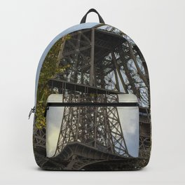 Paris. The View of the Eiffel Tower in Autumn Backpack