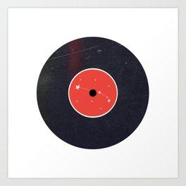 Vinyl Record Zodiac Sign Aries Art Print