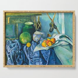 Ginger Jar and Eggplants by Cezanne Serving Tray