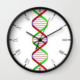 DNA Twin Spiral Wall Clock