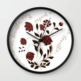 Indian boho antique - Collection 2020 - Black, gold and Red Wall Clock