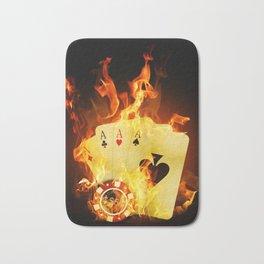 Burning Poker Cards Badematte