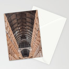 Perfect ceiling - Galleria Vittorio Emanuele II Milan Italy photo - Architecture urban urbanscape night colourful photography art print Stationery Cards