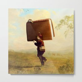 Young Travelling Storyteller Metal Print
