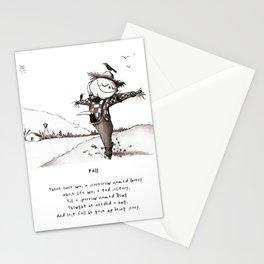 Scarecrow Fall Limerick Stationery Cards