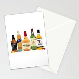 Whiskey Bottles Illustration Stationery Cards