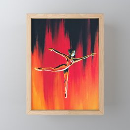fire dancer Framed Mini Art Print