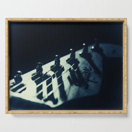 Squire Guitar Head Abstract Still Life Photograph Serving Tray