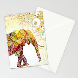 """""""Forever Young"""" Elephant Mother & Baby Stationery Cards"""