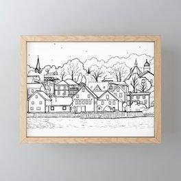 Lunenburg Halifax, Nova Scotia, Canada Framed Mini Art Print