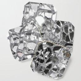 Silver Mirrored Mosaic Coaster
