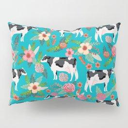 Holstein cattle farm animal cow floral Kissenbezug