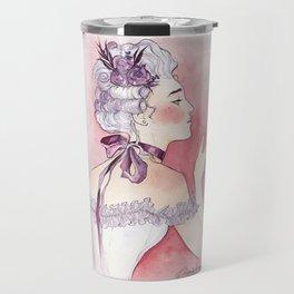 Purple Ribbon Travel Mug