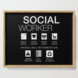 Social Worker Funny Serving Tray