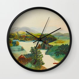 Anna Mary Robertson 'Grandma' Moses Upper Cambridge Valley American Folk Art Wall Clock