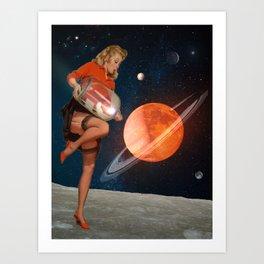 Pin Up God is a Woman #artprint #digitalcollage Art Print