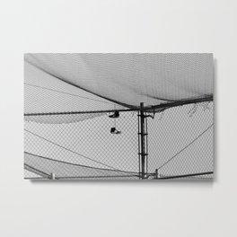 Hanging Sneakers Metal Print