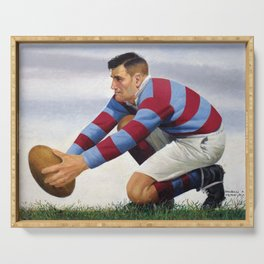 Rugby Kicker by PPereyra Serving Tray
