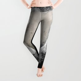 Bull Skull Black Background Leggings