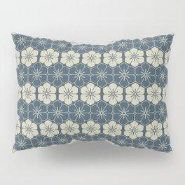 Blue Floral Japanese Pattern Pillow Sham