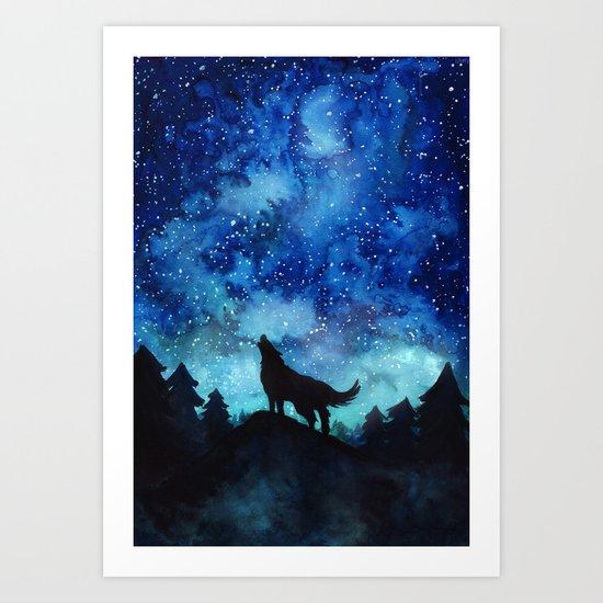 Wolf Galaxy by suzieque