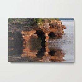 Sea Caves at Apostle Islands National Lakeshore - Wisconsin Metal Print