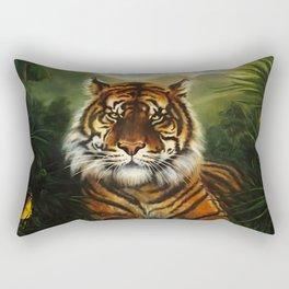Jungle Tiger Landscape Rectangular Pillow