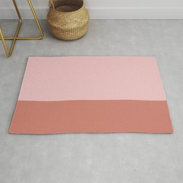 Pink & Indian Red - color story Rug