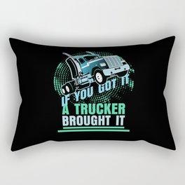 Truck Driver And Trucker Gift Idea Rectangular Pillow